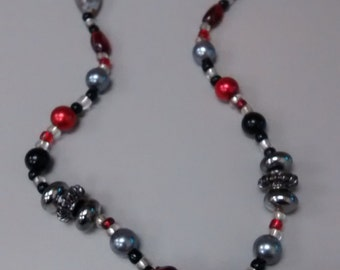 Phantasm Silver Ball Beaded Necklace