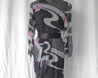 Hanae Mori seda vestido