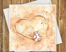 Star Wars 'The Force Awakens' BB-8 Valentines Day Card