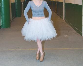 White Tutu - White Tulle Skirt - Ballet Tulle Skirt - Bachelorette Skirt - Twelve Inch Tutu - White - Halloween tutu -
