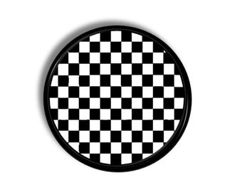 Black and White Checkered Dresser Knob - Check, Racing Decor, Boys Decor, Man Cave, Rec Room, Game Room - Drawer Pull, Cabinet Door - 115H9