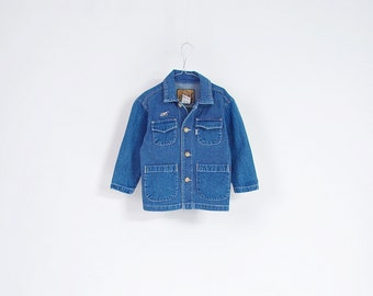 10% OFF SALE - 80s Levi's Kids Denim Workwear Style Jacket / Size 3T
