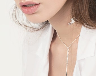 ON SALE Dainty Lariat / Y Necklace