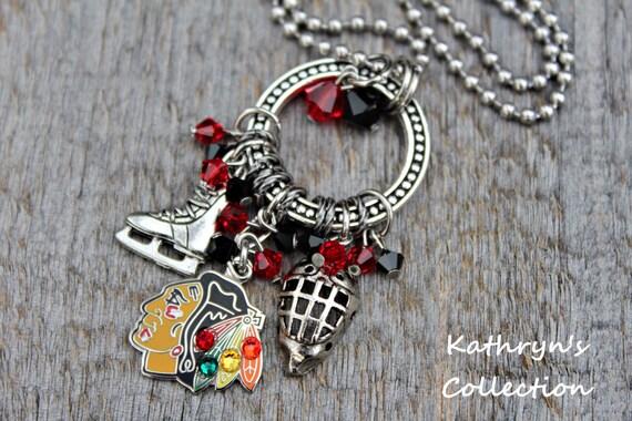 chicago blackhawks necklace chicago blackhawks jewelry