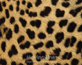 Cheetah Print Digital Paper, Leopard Pattern, Animal Skin, African Jungle, Wild Animal Fur Photography Backdrop 2ft, 61cm