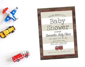 firefighter theme baby shower – Etsy
