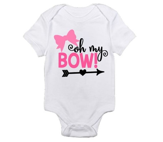 Items similar to Oh My Bow bodysuit Funny baby girl shirt