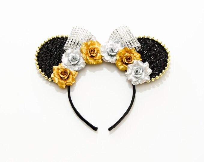 Gold Silver Mouse Ears Headband