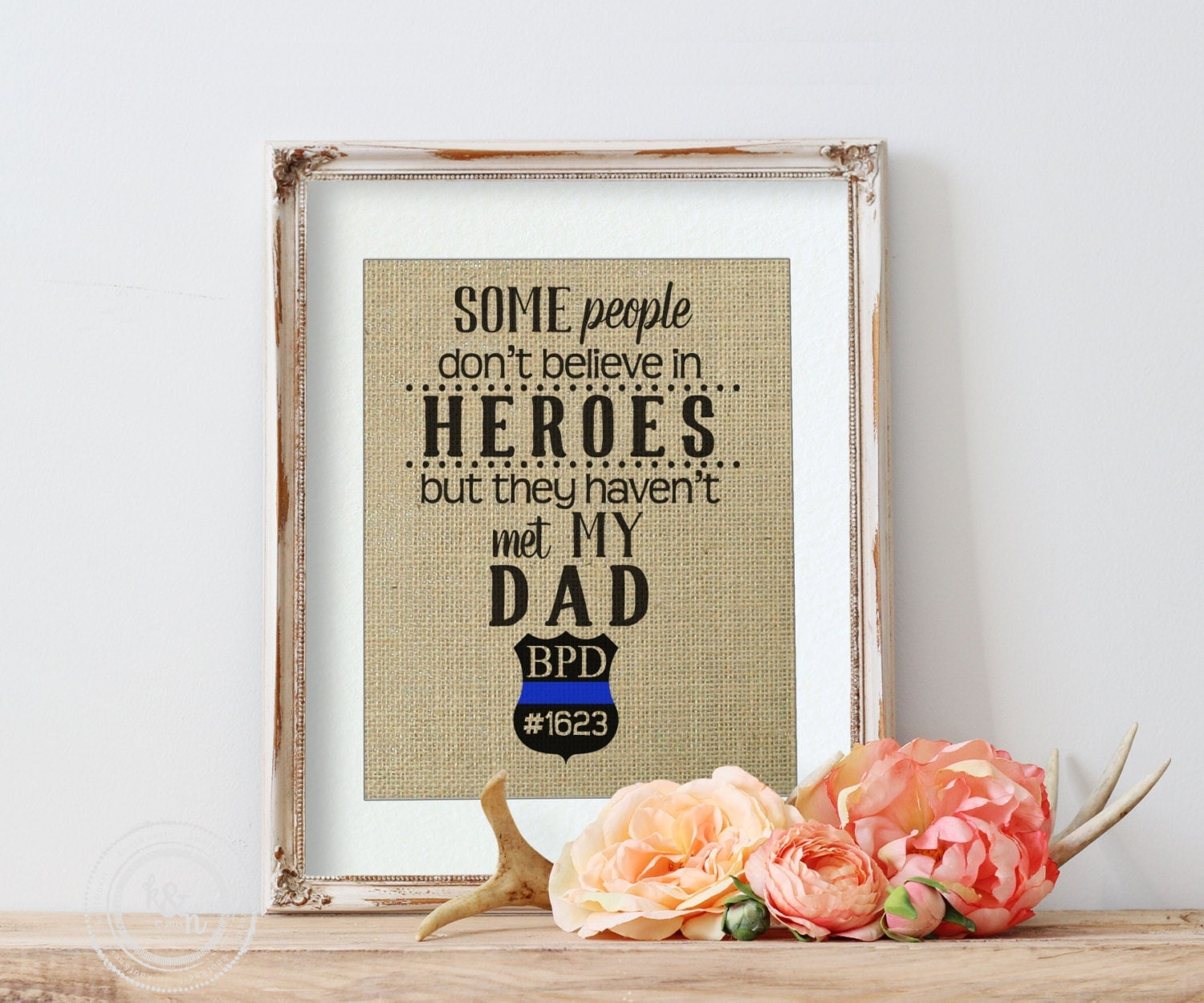 Personalized Policeman Gift Police Father Christmas Gift