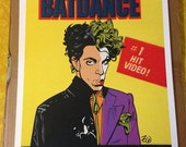 Prince Bat Dance faux wax pack print