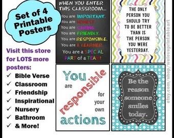 Classroom Rules, Teacher Classroom Decor, Inspirational Quotes, Back to School, Motivational Signs, Classroom Art, Teacher Gifts