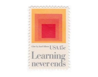10 Unused Vintage Postage Stamps - 1980 15c Learning Never Ends - Item No. 1833
