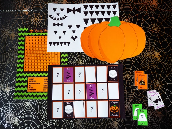 HALLOWEEN - Party - Game Activity - Pack - Wordsearch - Memory Game - Children - Pumpkin - PRINTABLE - PDF - Digital - Instant Download
