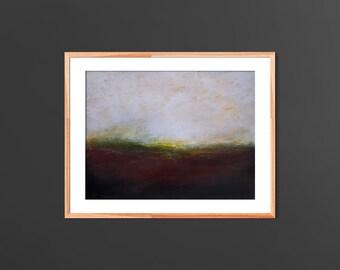 Original  landscape painting, acrylic abstract art //REVELATION// expressive brush strokes, atmospheric colors, modern art contemplative