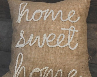 """Home Sweet Home 18""""x18"""" Pillow Cover"""