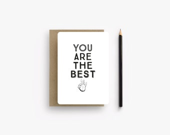 """Handmade card """"You are the best"""""""