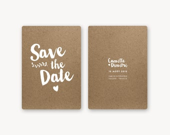 Save the date - Collection Kraft