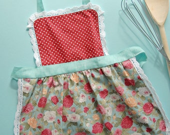 Kids Aprons, Childrens Aprons, Cake Smash Apron, Toddler Pinny, Childs Apron, Polka Dot Floral Childrens Baby Apron, Birthday Party Aprons,