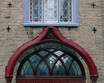 Detail of Entrance to Old Chapel in Quebec City