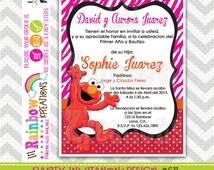 611: DIY - Elmo's World Party Invitation Or Thank You Card