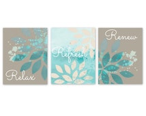 Unique Teal Wall Decor Related Items Etsy