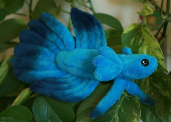 Items similar to custom multi color dip dye betta fish for Betta fish toys