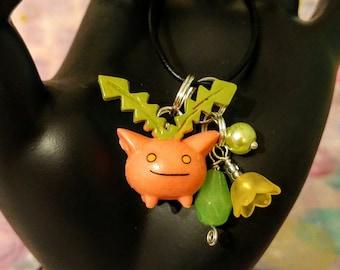 pokemon inspired Hoppip charm cell phone necklace bracelet