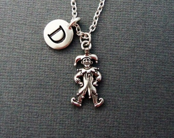 Court Jester Necklace, Court Jester Bangle Bracelet, Personalized Jester Keychain, Clown Court Jester Jewelry, Circus Act Jester Necklace