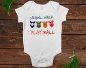 Baby Boy Shirt - Football Soccer Basketball Baseball - Baby Boy Gift -