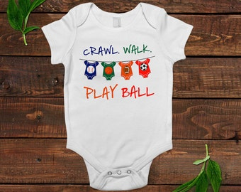 Baby Boy Shirt - Football Soccer Basketball Baseball - Baby Boy Gift -