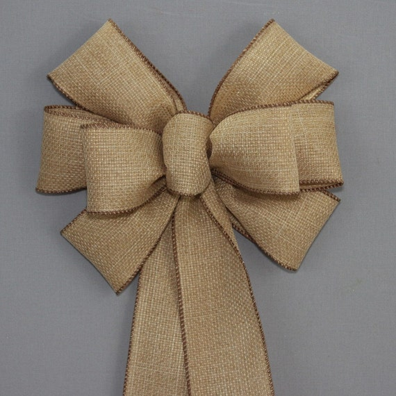 Rustic fall burlap wreath bow thanksgiving decorations