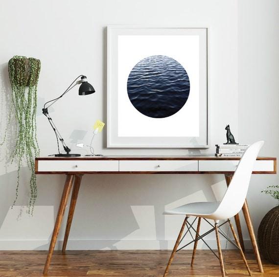 Ocean Photography, Circle Art Print, Ocean Art, Circle Art, Waves, Wave Art, Water Print, Water Wall Art, Digital Print, Printable Wall Art