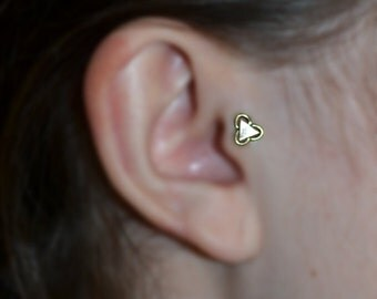 Tiny Dream Catcher Stud 16 Gauge Tragus Jewelry Earring Post