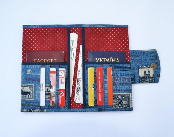 Travel wallet family passport holder travel document holder for Family travel document organizer