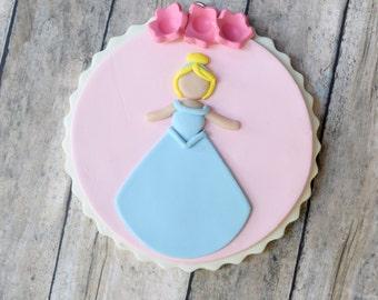 Cinderella Ornament, Disney Princess Ornament, Whimsical Ornament, Cinderella, Princess, Flowers, Disney