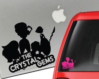 Steven Universe The Crystal Gems Vinyl Decal for Laptop or Car