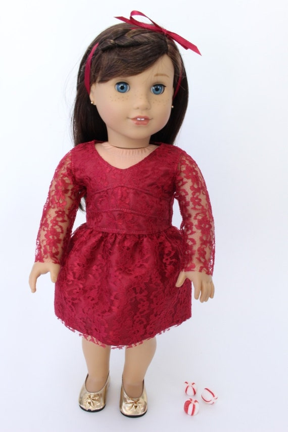 Clearance american girl doll clothes holiday dressy satin and lace