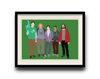 Silicon Valley minimalist poster, Silicon Valley digital art poster