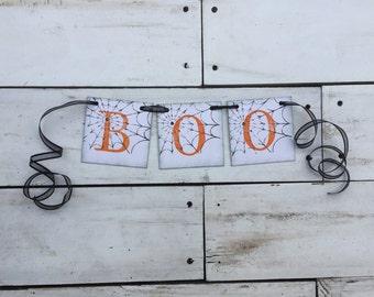 Halloween Banner • Boo Banner • Halloween Decor • Halloween party Halloween sign • halloween garland • halloween decoration