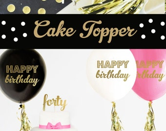 40 Cake Topper - 40th Birthday Cake Topper - 40th Cake Topper 40th Birthday Party Ideas 40th Birthday Decorations (EB3116) forty CAKE TOPPER