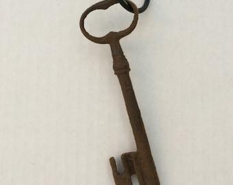 Antique Large French Skeleton Key Rusty Skeleton Key