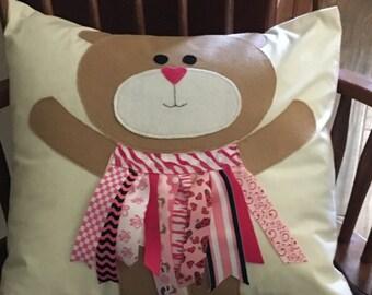 Pink Bear Pillow