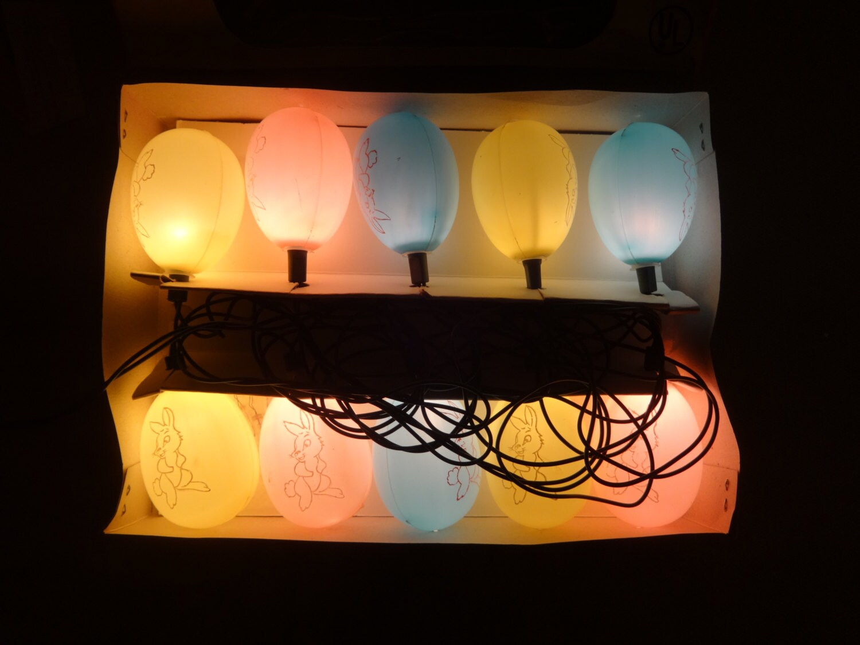 Easter SALE Vintage Easter Egg String Lights
