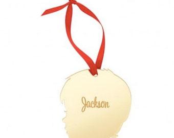 Monogrammed Wholesale Boutique Boy Silhouette Ornament