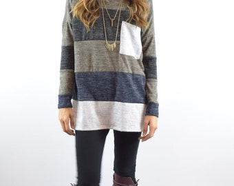 Color blocked Knit Tunic