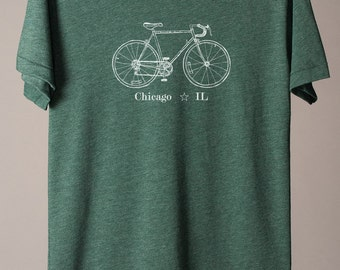 Chicago bike tee, Chicago t-shirt, Chicago Illinois t-shirt, midwest is best