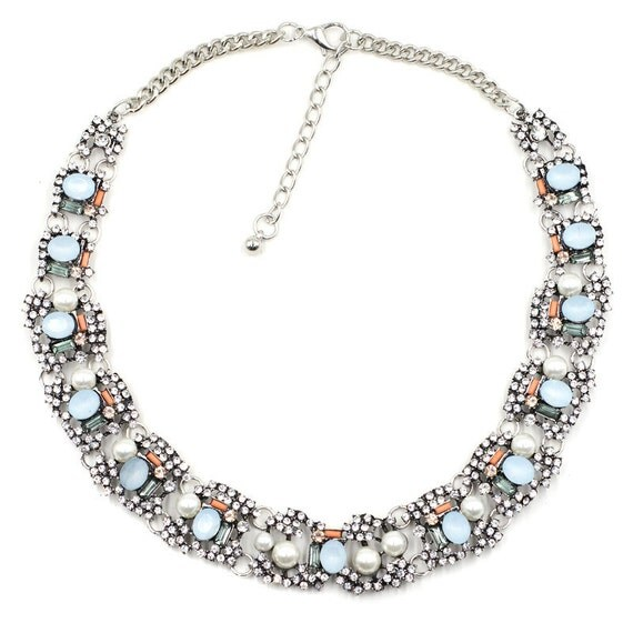 Crystal statement necklace chunky necklace kate by for Stella and dot jewelry wholesale