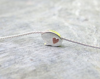 Minimalist silver necklace Choker necklace Simple necklace Heart necklace Dainty silver necklace Simple Delicate Jewelry Minimalist jewelry