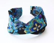 Fabric headband. Twisted headband. Twisted fabric headband. Turban style headband. Printed fabric headband. Paisley headband. Boho headband.