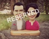 Reserved for Wail ** Wool Portrait (couple) 17 cm * free shipping